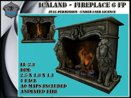 Icaland - Fireplace Model 6 FP