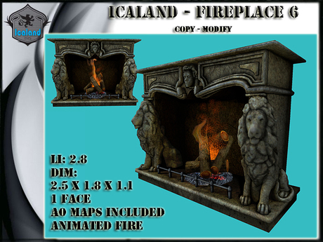 Icaland - Fireplace Model 6