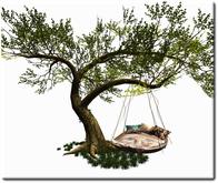 Mesh Cuddle Nest Tree by Felix 19 Prim mody-copy