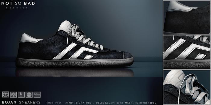 not so bad . mesh . BOJAN sneakers . black
