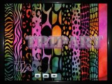 {TripArt} Rainbow Animal Prints Fabrics Set 4