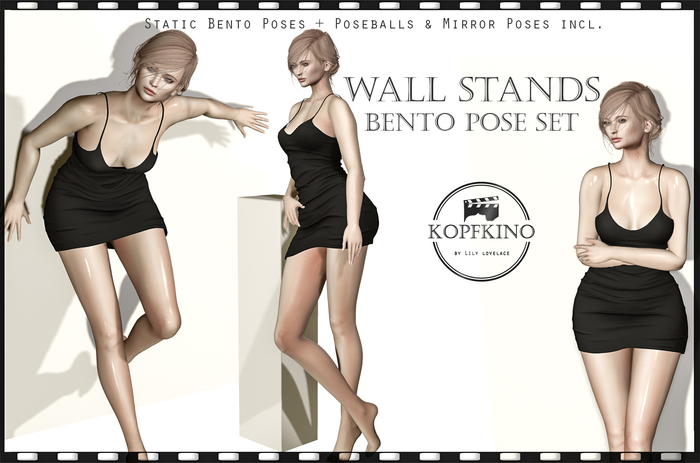 KOPFKINO: Wall Stands Bento Pose Set