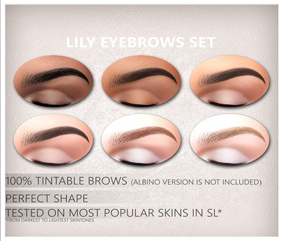 """DEMO Insol: """"Lily eyebrows"""" (CATWA)"""