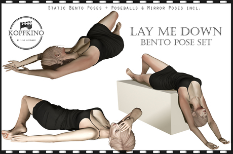 KOPFKINO: Lay me down Bento Pose Set