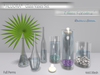 "*ALUORA* Glass Vases Set ""Clear Waters"" - Builders Edition"