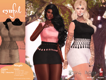 [Cynful] Lioness 2in1 Top + Dress Set - Tan [Maitreya Lara, Belleza (Isis + Freya), Slink (HG)