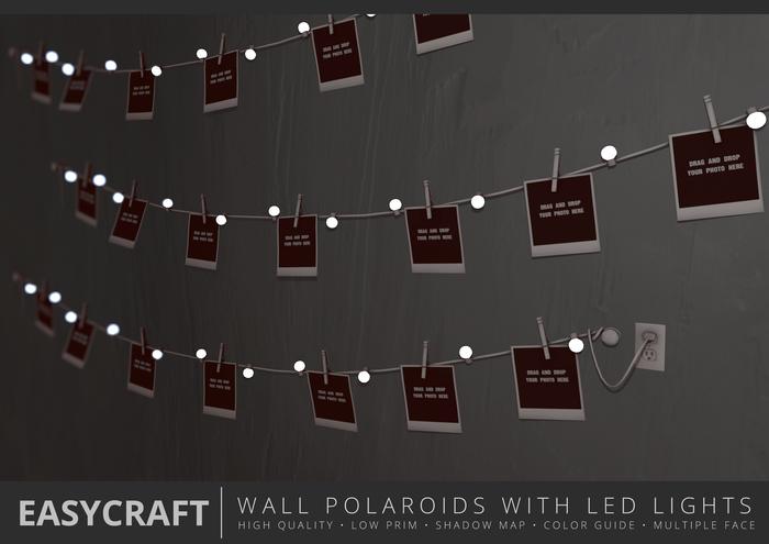 EasyCraft - Full Perm LED String Lights Polaroid Decor Kit