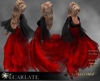 Ecarlate - Dress Gown Formal - Dark Red / Robe Longue - Melinda