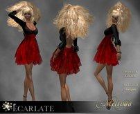 Ecarlate - Dress Gown Formal - Dark Red  / Robe - Melinda