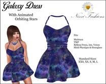 Nixxi Fashions - Galaxy Dress With Animated Orbiting Stars