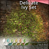 [DDD] Delicate Ivy Set - Twinkling Seasonal Simwide Texture Change Low Land Impact Ivy