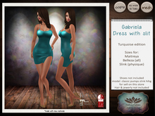 .:TBO:. Gabriela dress with slit turquoise - wear me