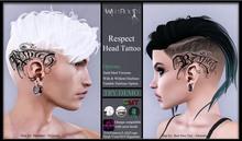 WR - Respect Head Tattoo