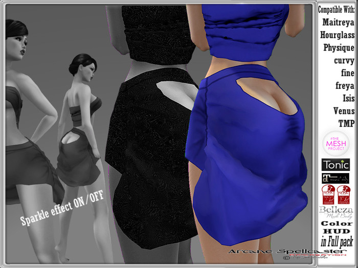 bag Skirt Viviana blue W/S *Arcane Spellcaster* Ak-Creations