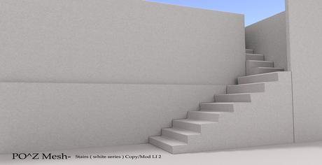 Po^Z Mesh - Stairs  ( white series )