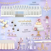 {moss&mink} Cake & Lace - Lace table (lilac)