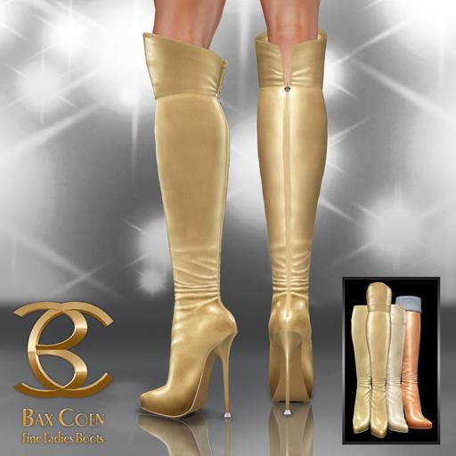 BAX Prestige Boots Gold