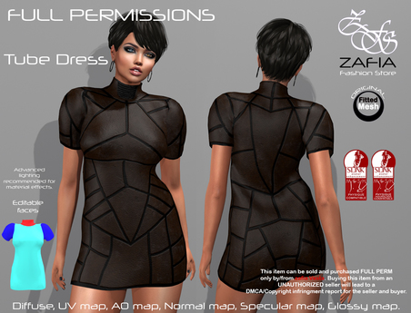 Full Perm-ZAFIA Tube Dress-Slink