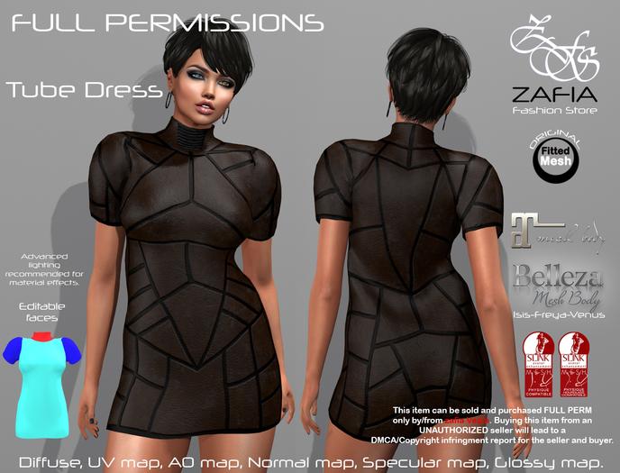 Full Perm-ZAFIA Tube Dress-FATPACK