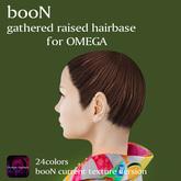*booN gathered raised hairbase for OMEGA