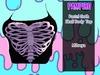 Pastel Goth Skull Body Top (maitreya)