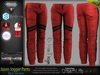 JASON RED Male Jogger Pants MESH - ADAM, AESTHETIC, SIGNATURE GIANNI, SLINK, TMP, JAKE - FashionNatic