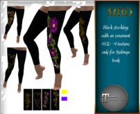 MBD Stockings black with ornament for Maitreya body only,100%mesh