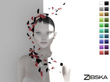 Zibska [50L Closeout] ~ Severn Color Change Headpiece and Shoulder Cascade with Orbits