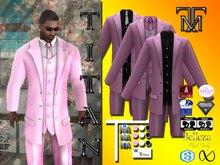 *TM* Titan Dalvin Pink Pinstripped  Suit