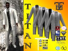 *TM* Titan Dalvin White Suit
