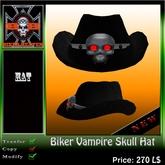 @BIKER-HEAVEN@ Biker Vampire Skull Hat