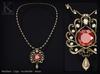 KUNGLERS - Jeska necklace - Garnet