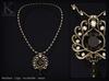 KUNGLERS - Jeska necklace - Obsidian