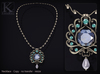 Kunglers   jeska necklace ad turmaline