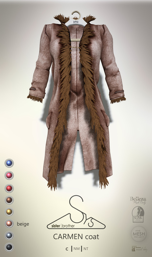 [sYs] CARMEN coat (body mesh) - beige