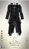 [sYs] CARMEN coat (body mesh) - black