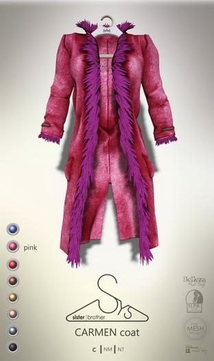 [sYs] CARMEN coat (body mesh) - pink GIFT <3