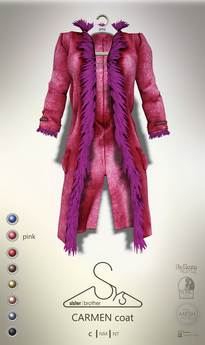 [sYs] CARMEN coat (body mesh) - pink