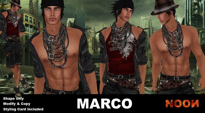 .::NOON::. Marco Men Shape - Male Shape Line