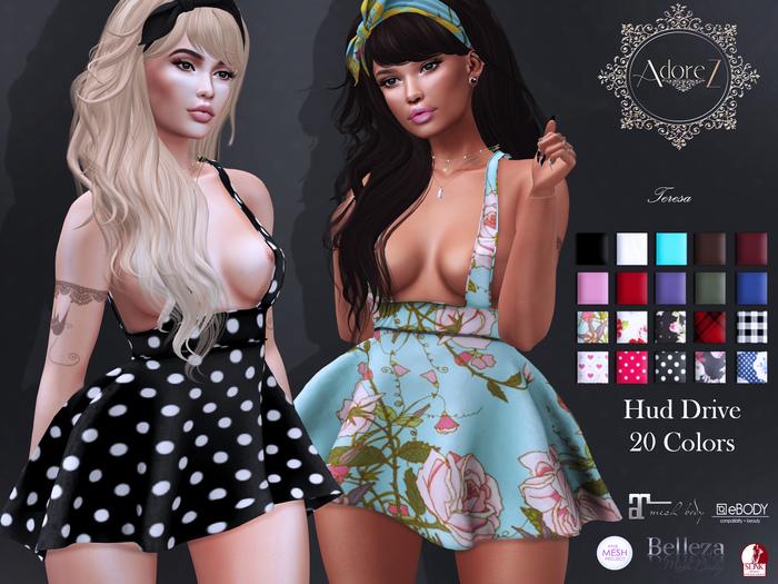 AdoreZ-Teresa Dress Hud Colors