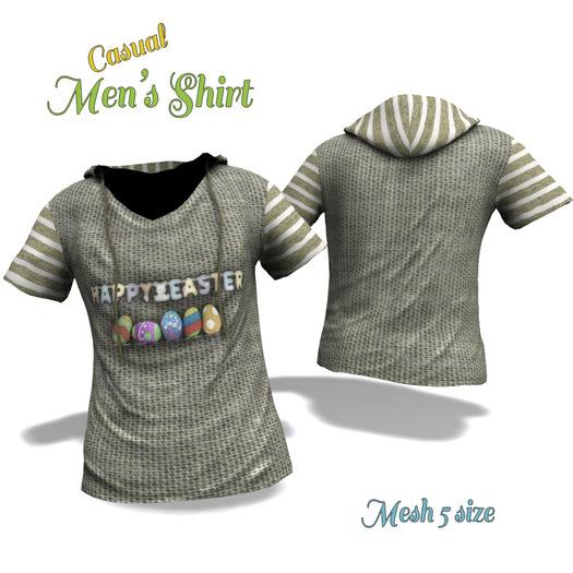 Men's Shirt / Easter Casual Shirt Mesh 5 size