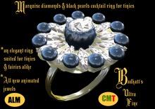 *fairy diamonds&black pearls ring2*
