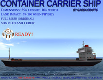 Container carrier ship UPGRADED! mayday broadcast system