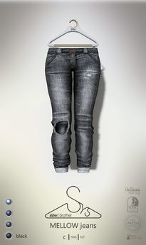 [sYs] MELLOW jeans (fitted & body mesh) - black