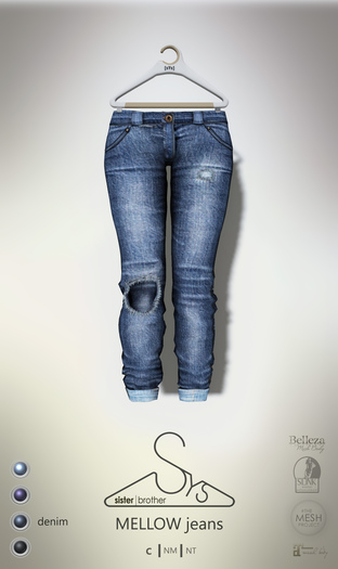 [sYs] MELLOW jeans (fitted & body mesh) - denim