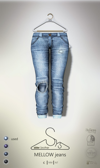 [sYs] MELLOW jeans (fitted & body mesh) - used