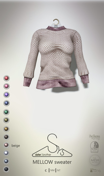 [sYs] MELLOW sweater (fitted & body mesh) - beige