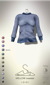 [sYs] MELLOW sweater (fitted & body mesh) - denim