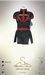 [sYs] URSULE dress (body mesh) - black/red