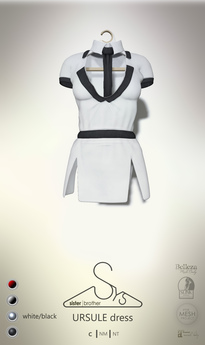 [sYs] URSULE dress (body mesh) - white/black GIFT <3